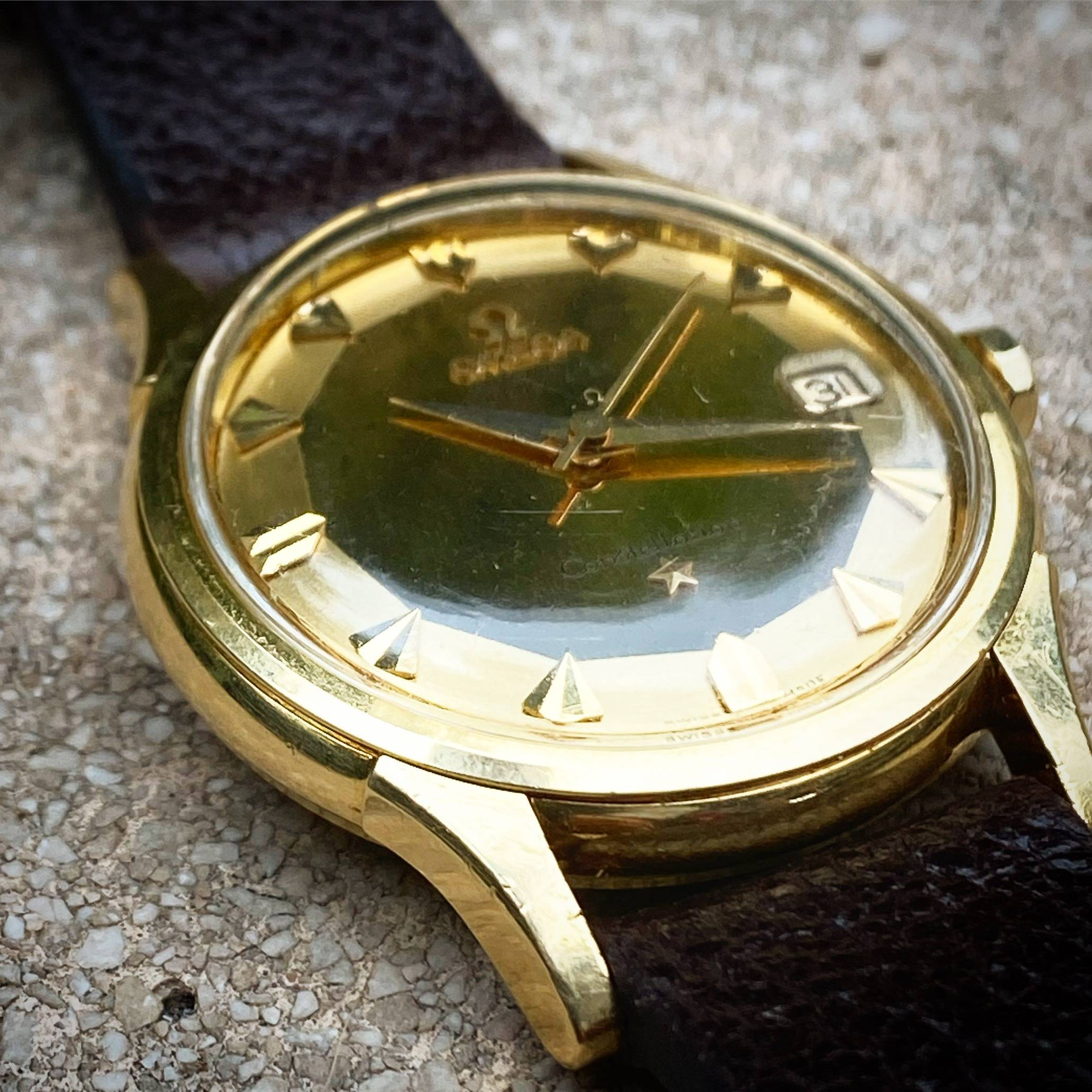 OMEGA CONSTELLATION PIE PAN DE LUXE SOLID GOLD 18K-2