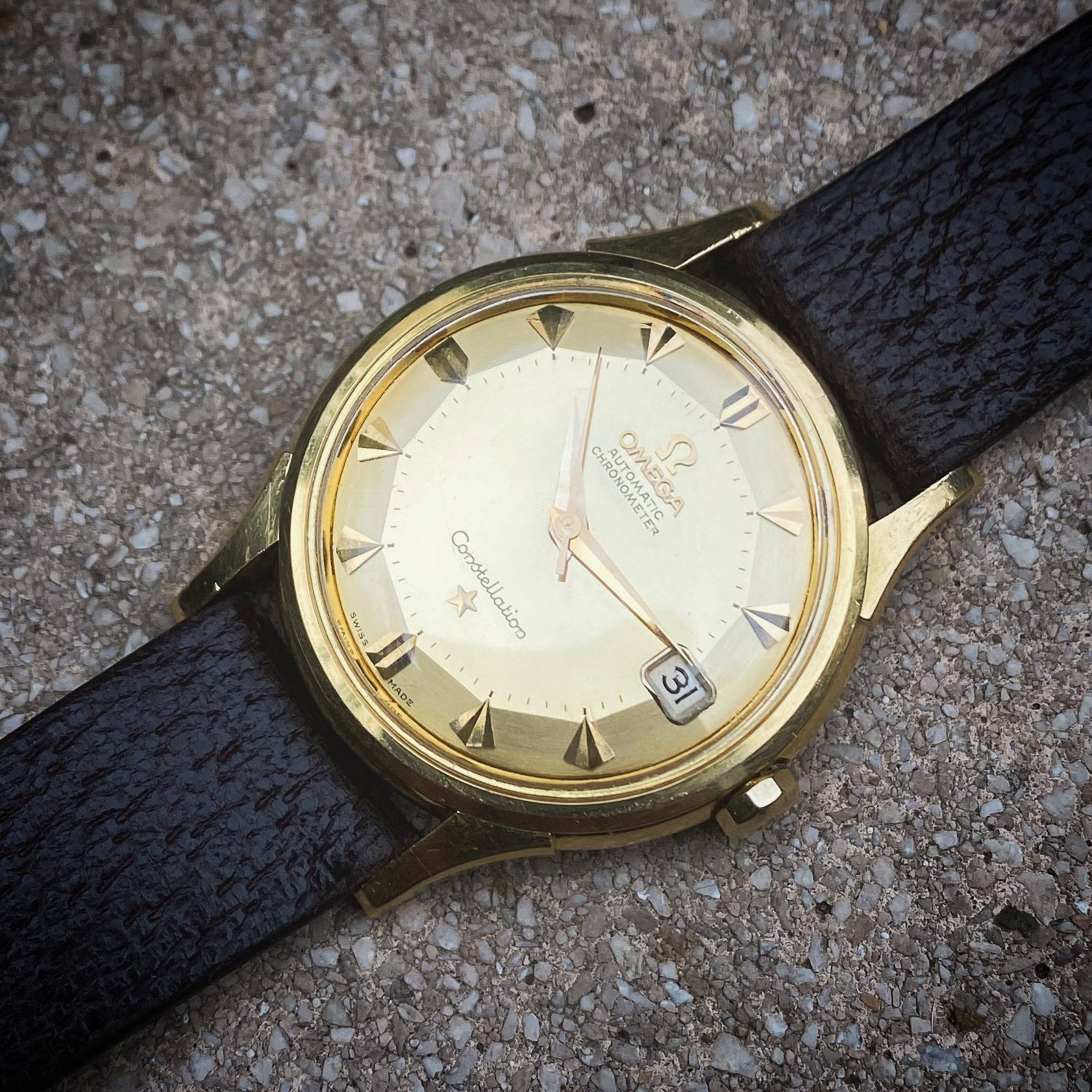 OMEGA CONSTELLATION PIE PAN DE LUXE SOLID GOLD 18K-3