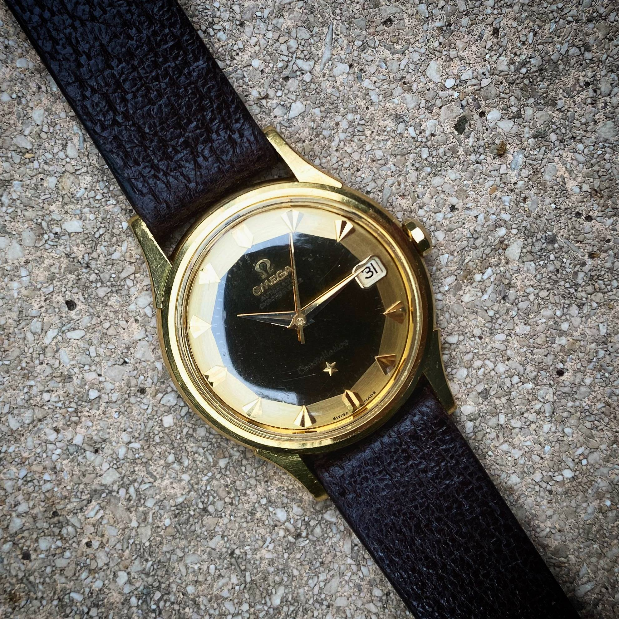 OMEGA CONSTELLATION PIE PAN DE LUXE SOLID GOLD 18K-5