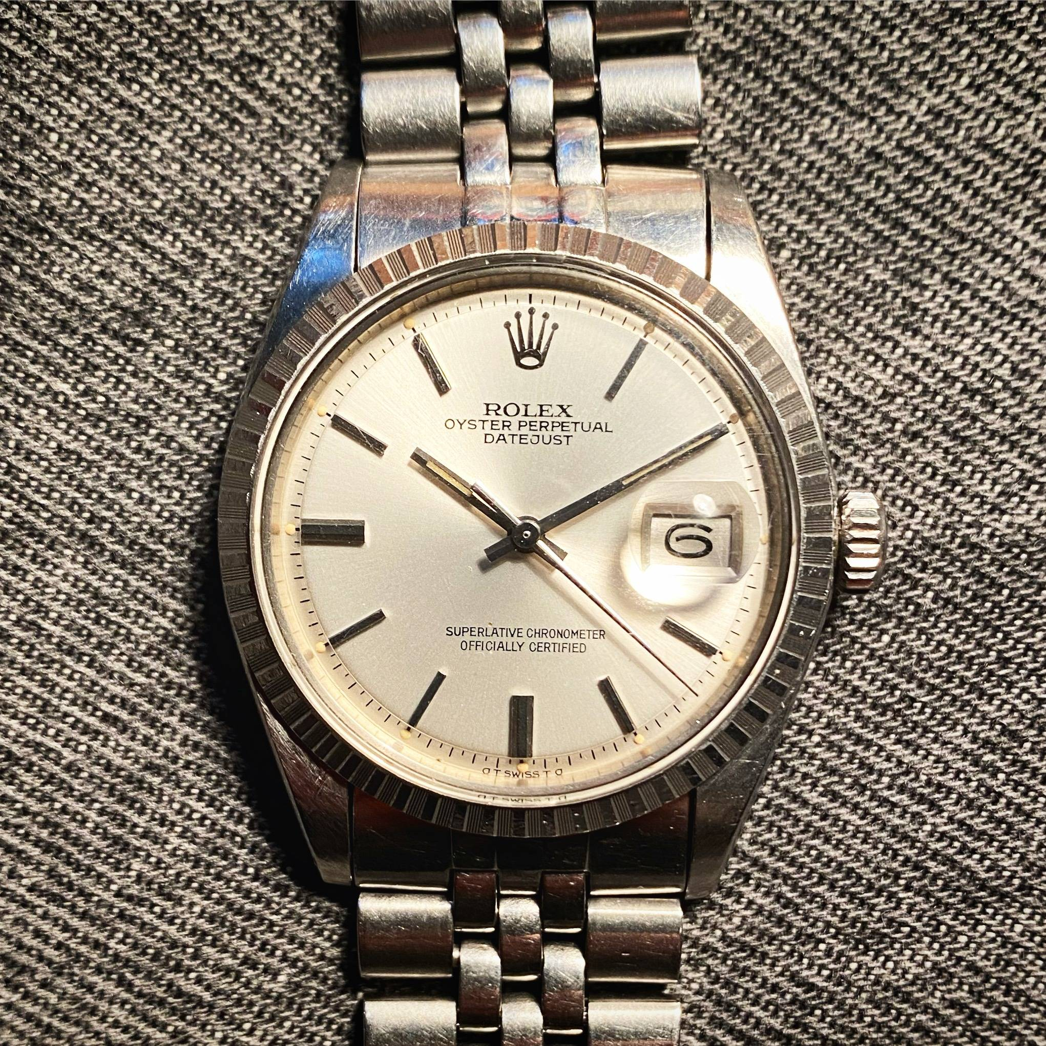 ROLEX OYSTER PERPETUAL DATEJUST ' SIGMA DIAL '