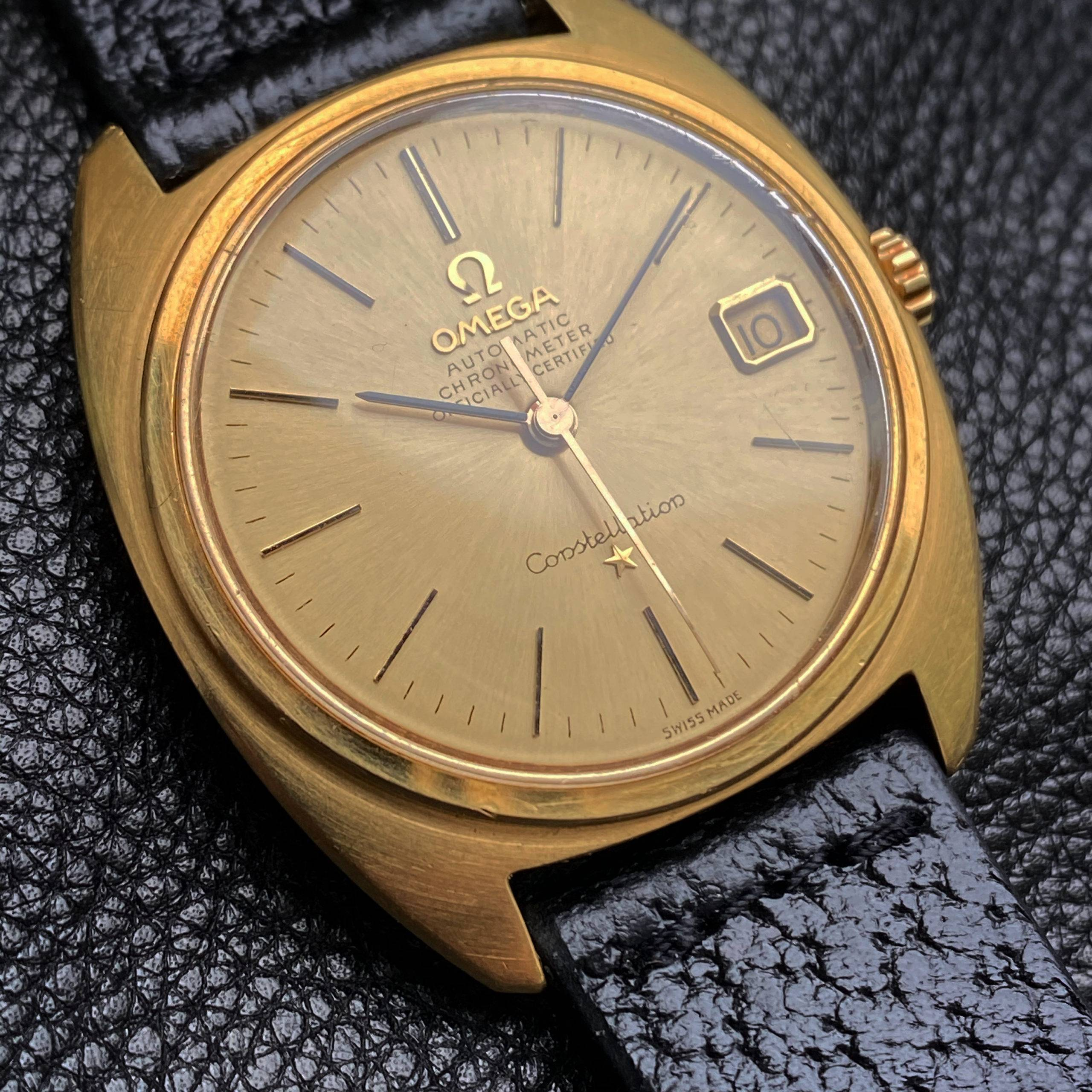 OMEGA CONSTELLATION  'C-CASE' SOLID GOLD-2