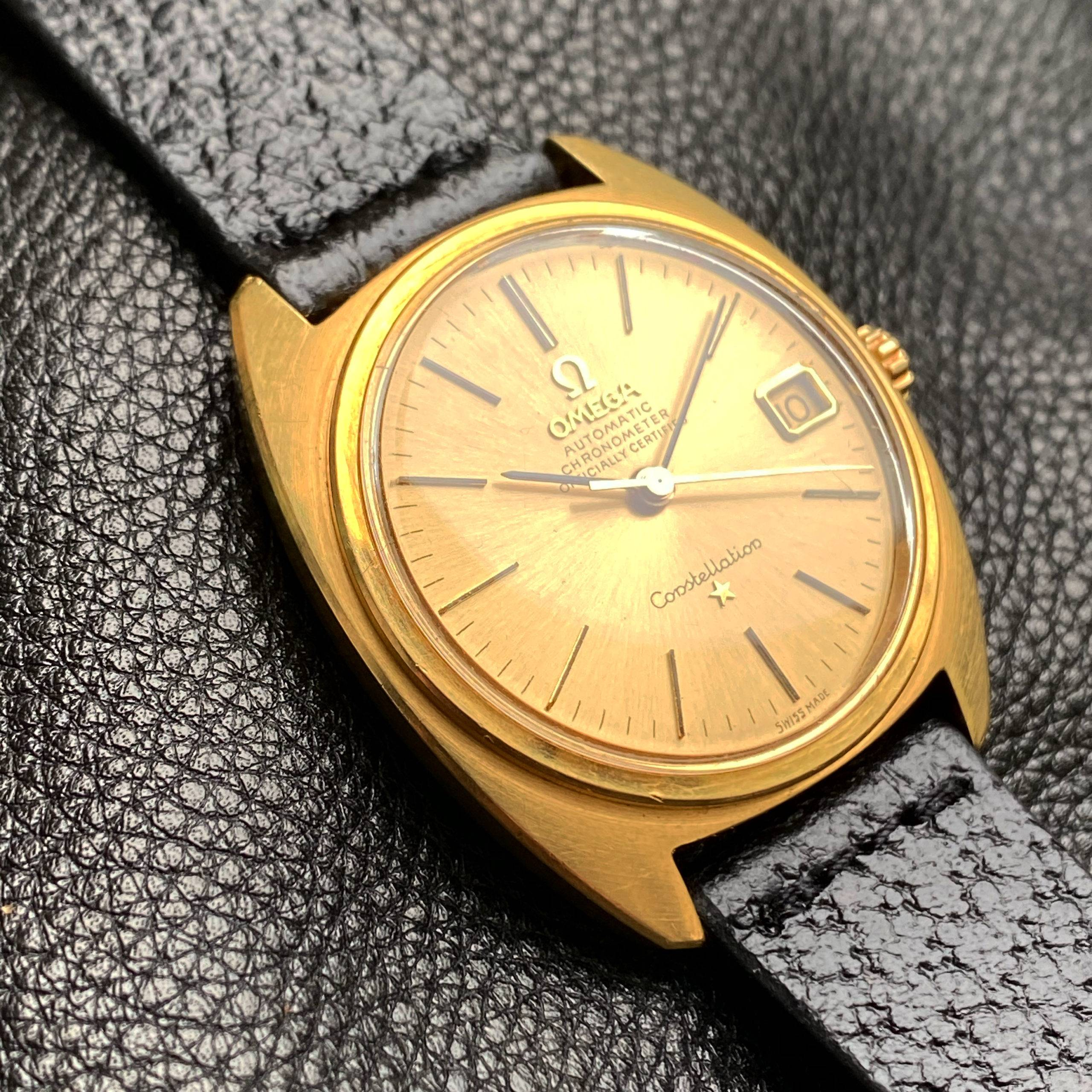 OMEGA CONSTELLATION  'C-CASE' SOLID GOLD-4