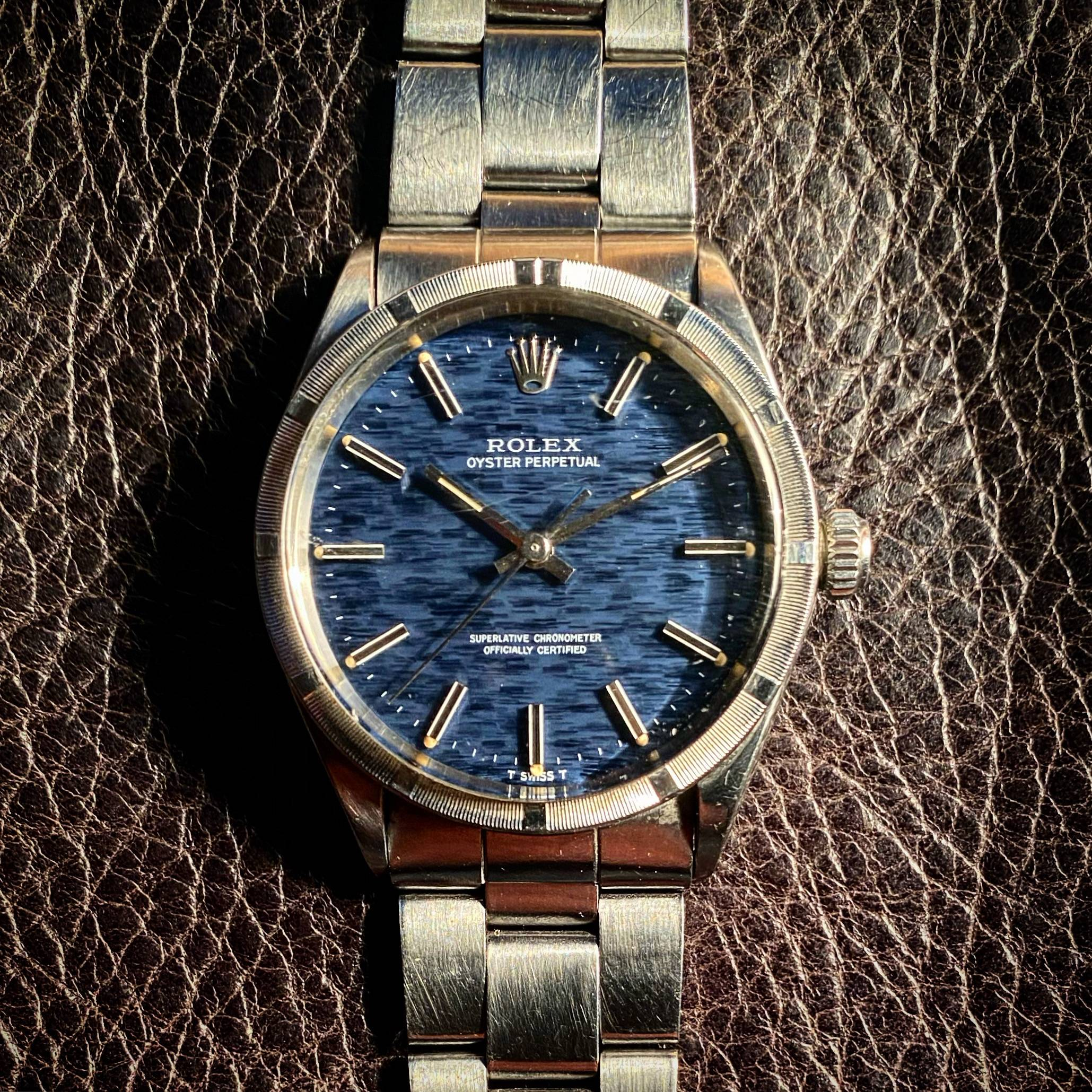 ROLEX OYSTER PERPETUAL ' MOSAIC-SHANTUNG ' DIAL