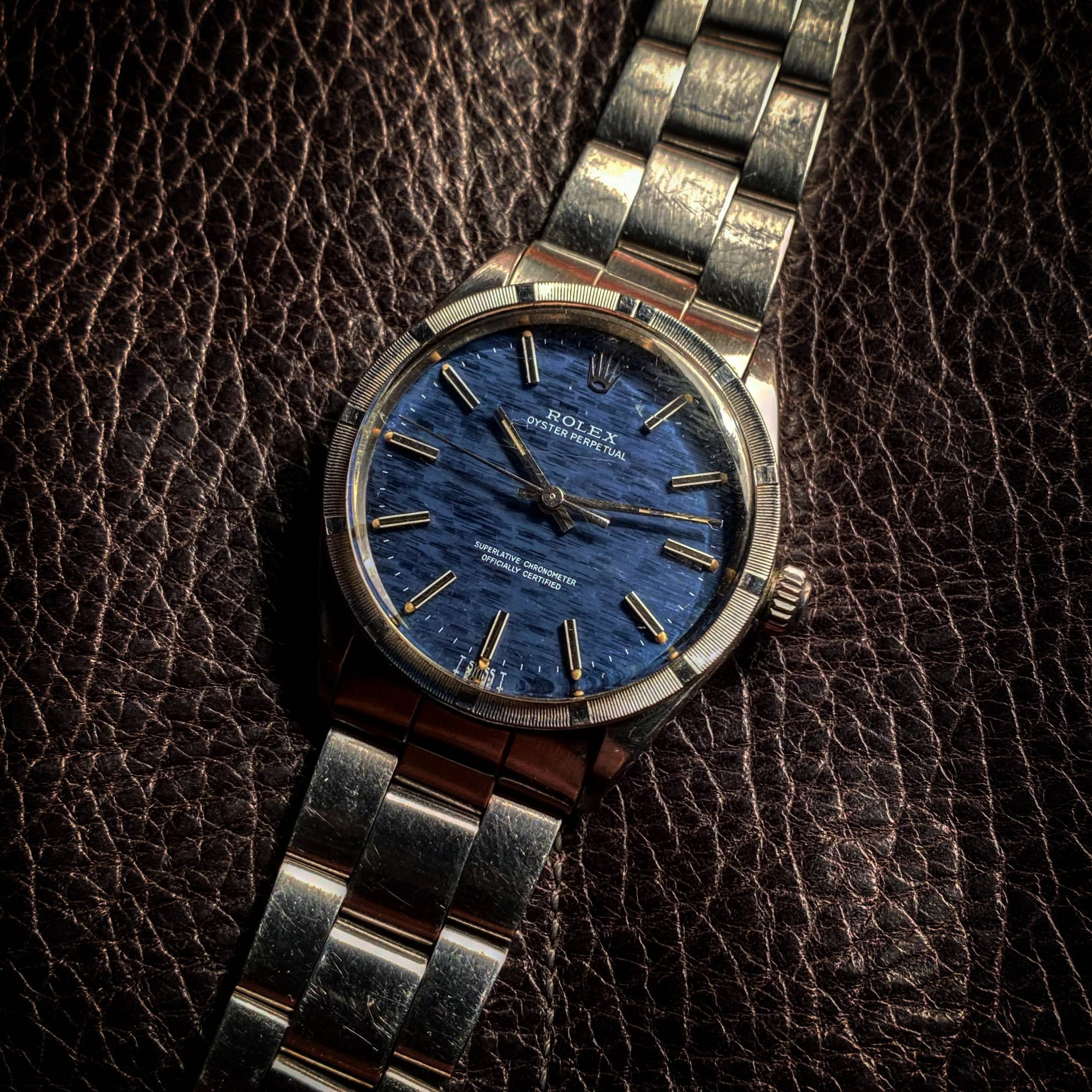 ROLEX OYSTER PERPETUAL ' MOSAIC-SHANTUNG ' DIAL-2
