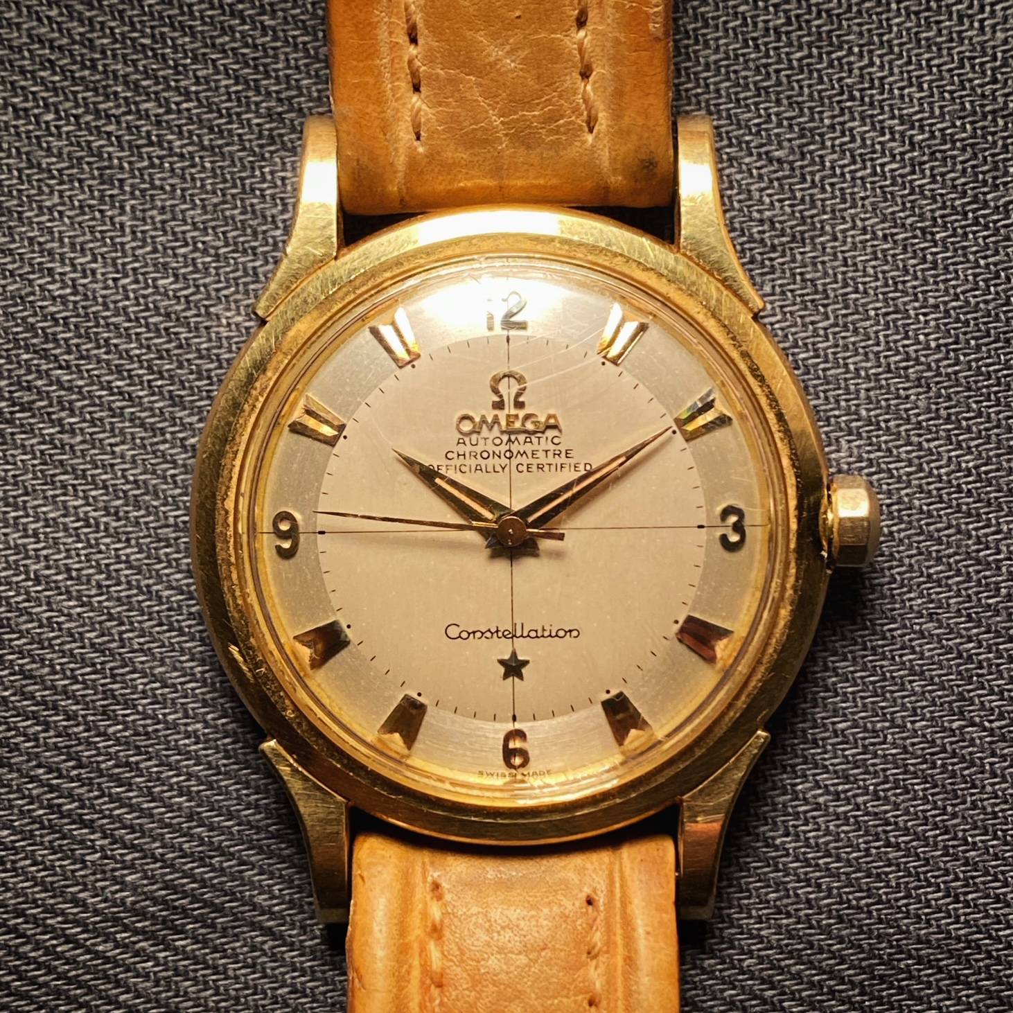 OMEGA CONSTELLATION PIE PAN BOX & PAPER ' BARN FIND '-2