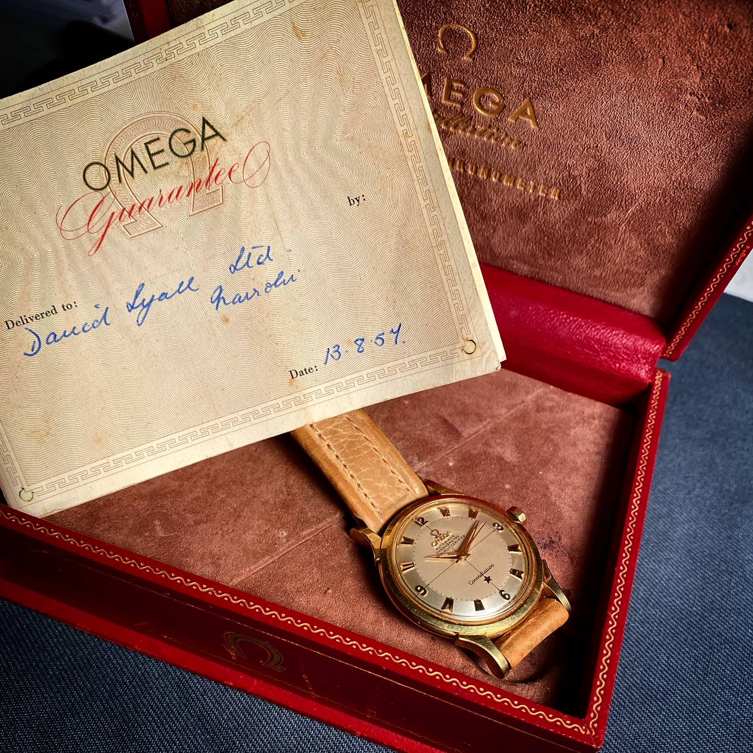 OMEGA CONSTELLATION PIE PAN BOX & PAPER ' BARN FIND '-5