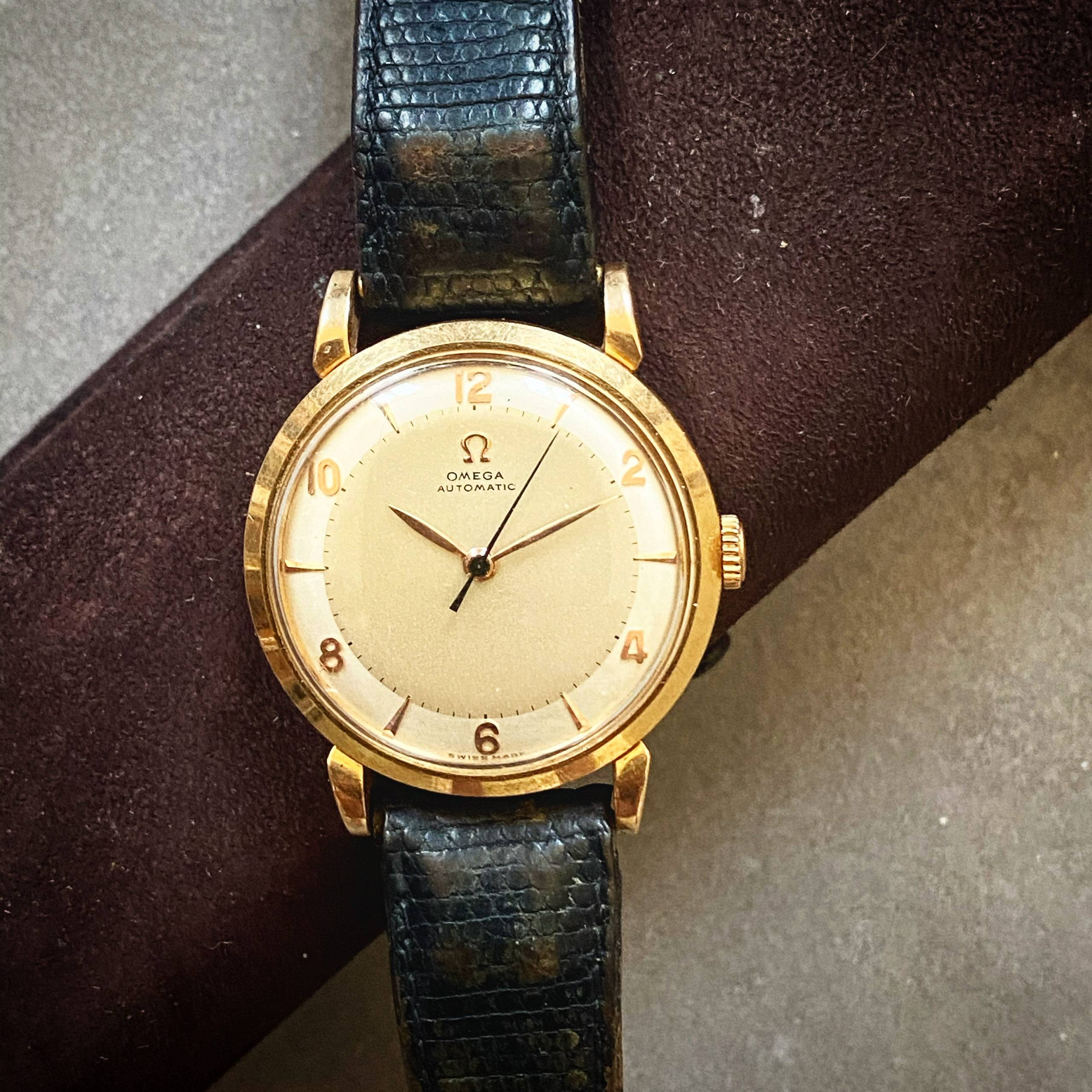 Omega Automatic Bumper Rose Gold Two Tones-3