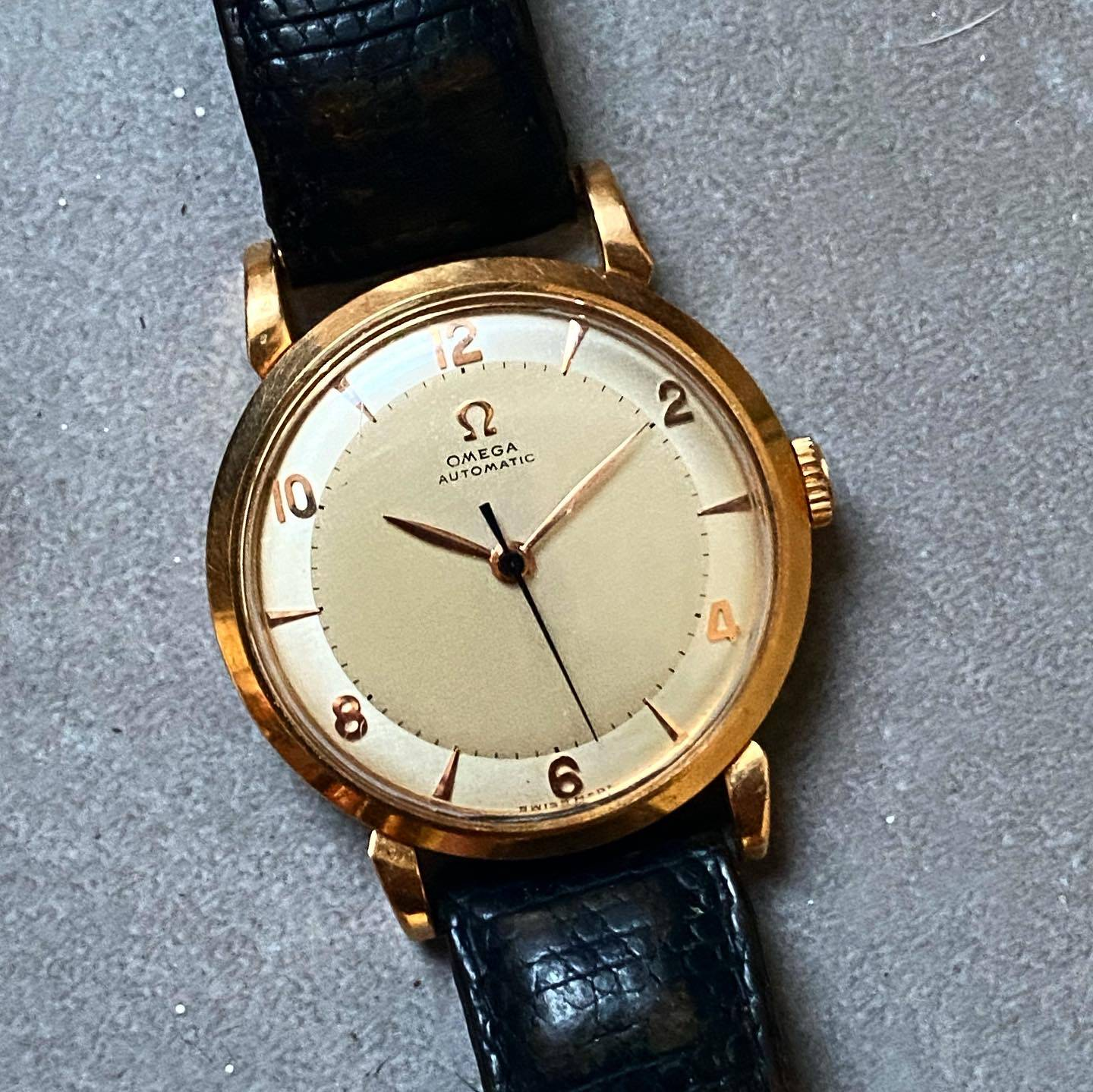Omega Automatic Bumper Rose Gold Two Tones-6