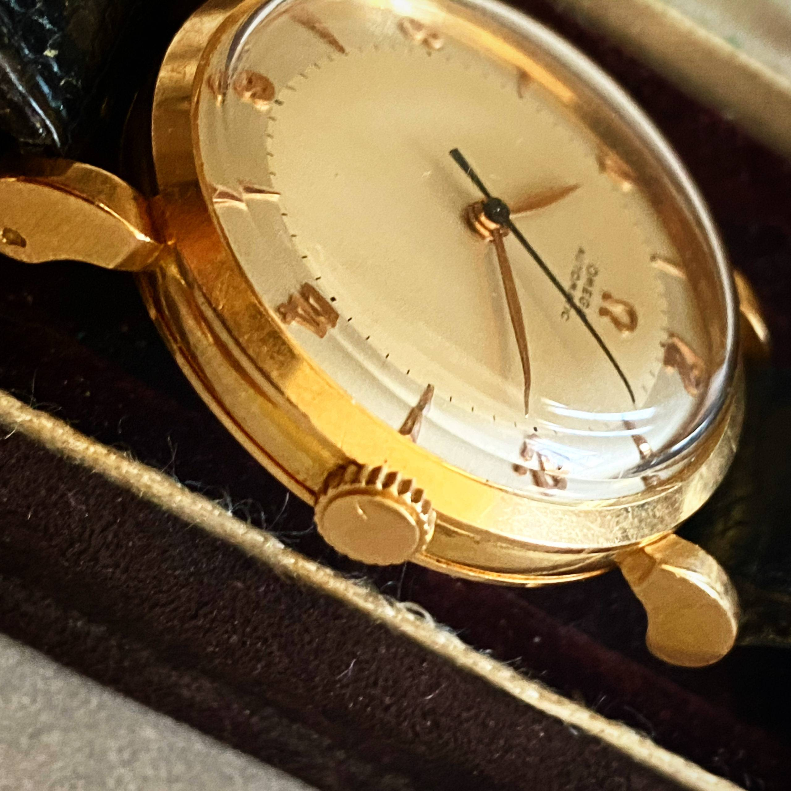 Omega Automatic Bumper Rose Gold Two Tones-4