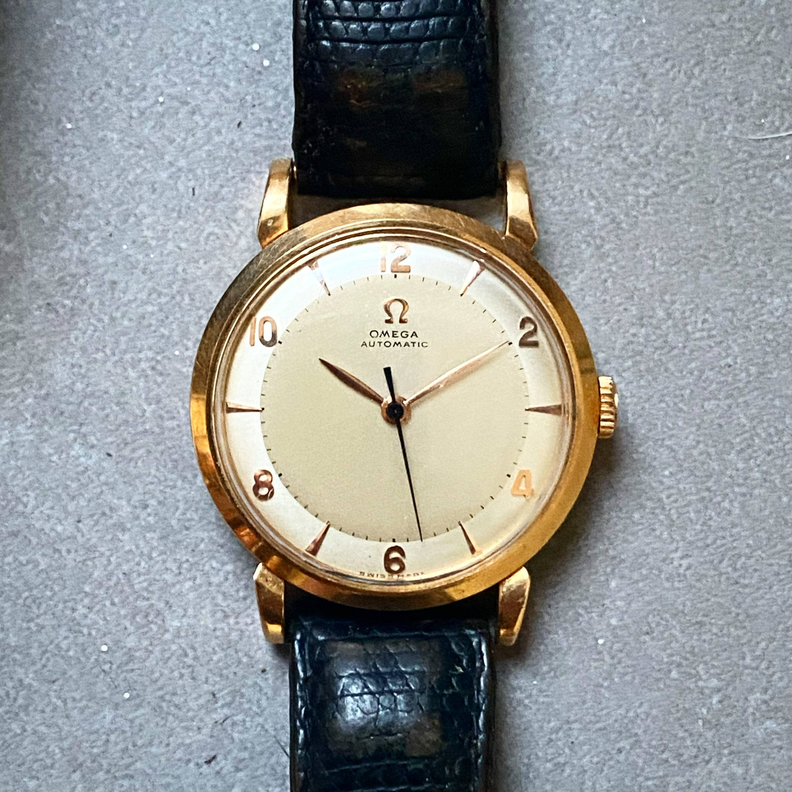 Omega Automatic Bumper Rose Gold Two Tones-1