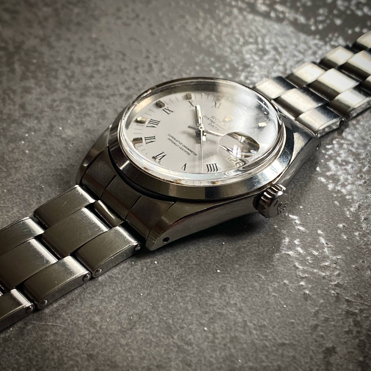 ROLEX OYSTER PERPETUAL DATE ' BUCKLEY DIAL '-2