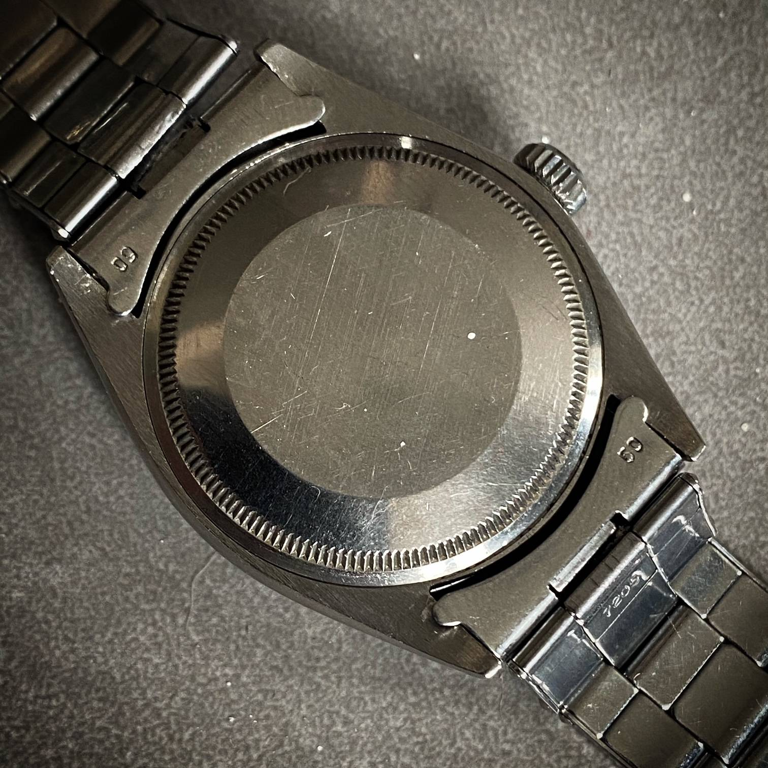 ROLEX OYSTER PERPETUAL DATE ' BUCKLEY DIAL '-5
