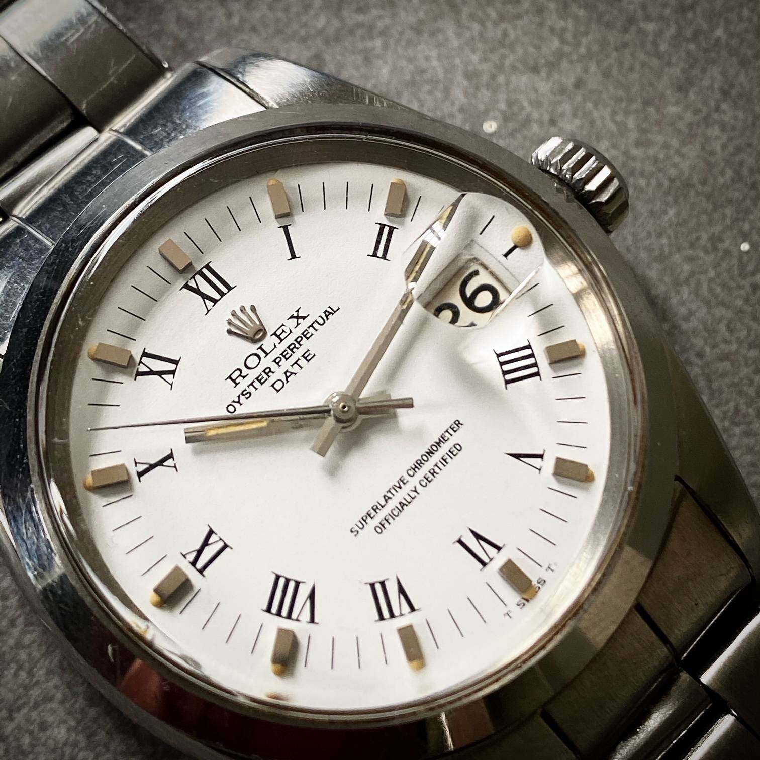 ROLEX OYSTER PERPETUAL DATE ' BUCKLEY DIAL '-3