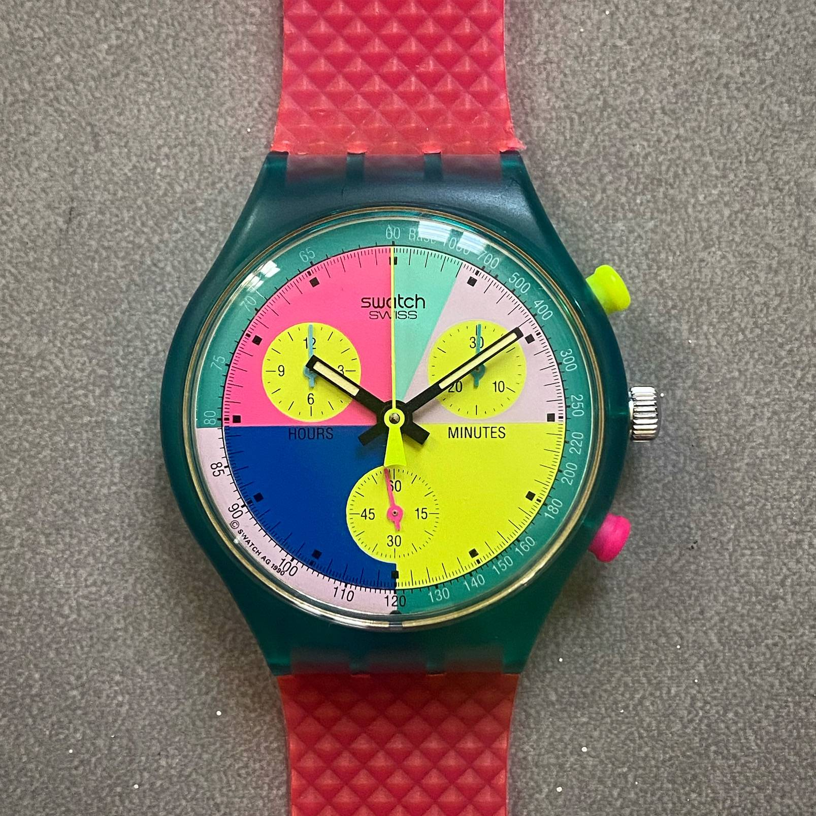 SWATCH VINTAGE FLASH ARROW BOX & PAPERS-1