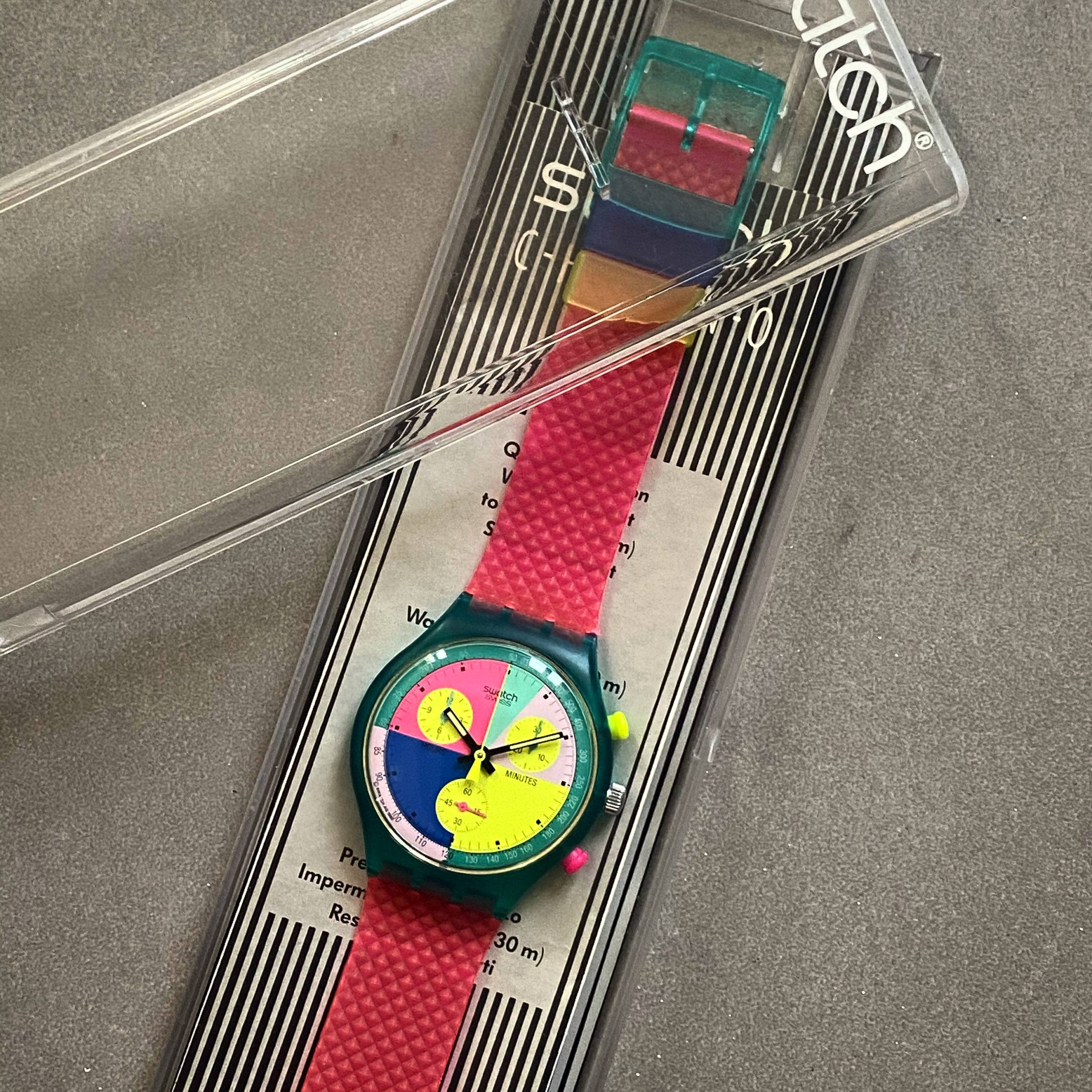 SWATCH VINTAGE FLASH ARROW BOX & PAPERS-3
