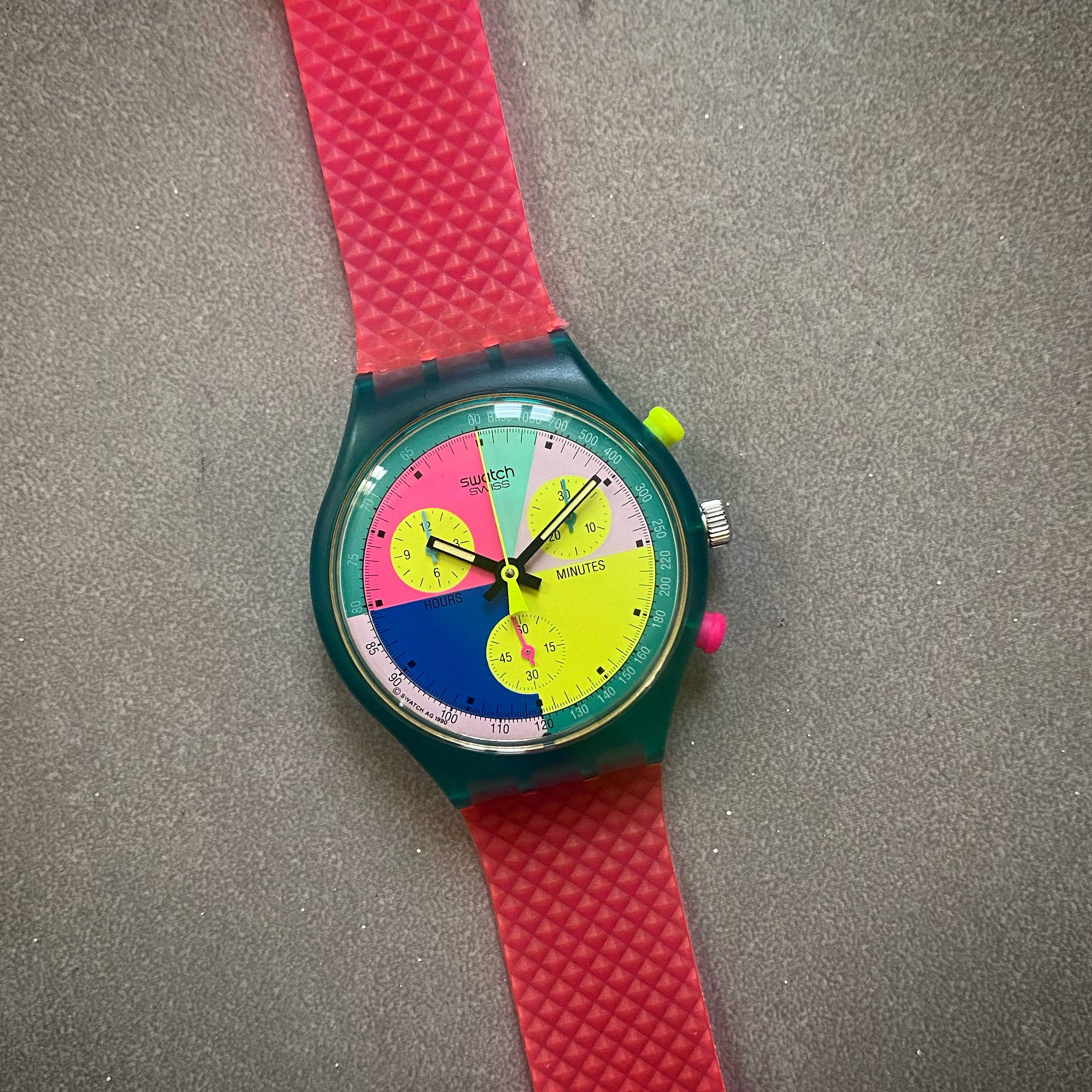 SWATCH VINTAGE FLASH ARROW BOX & PAPERS-5