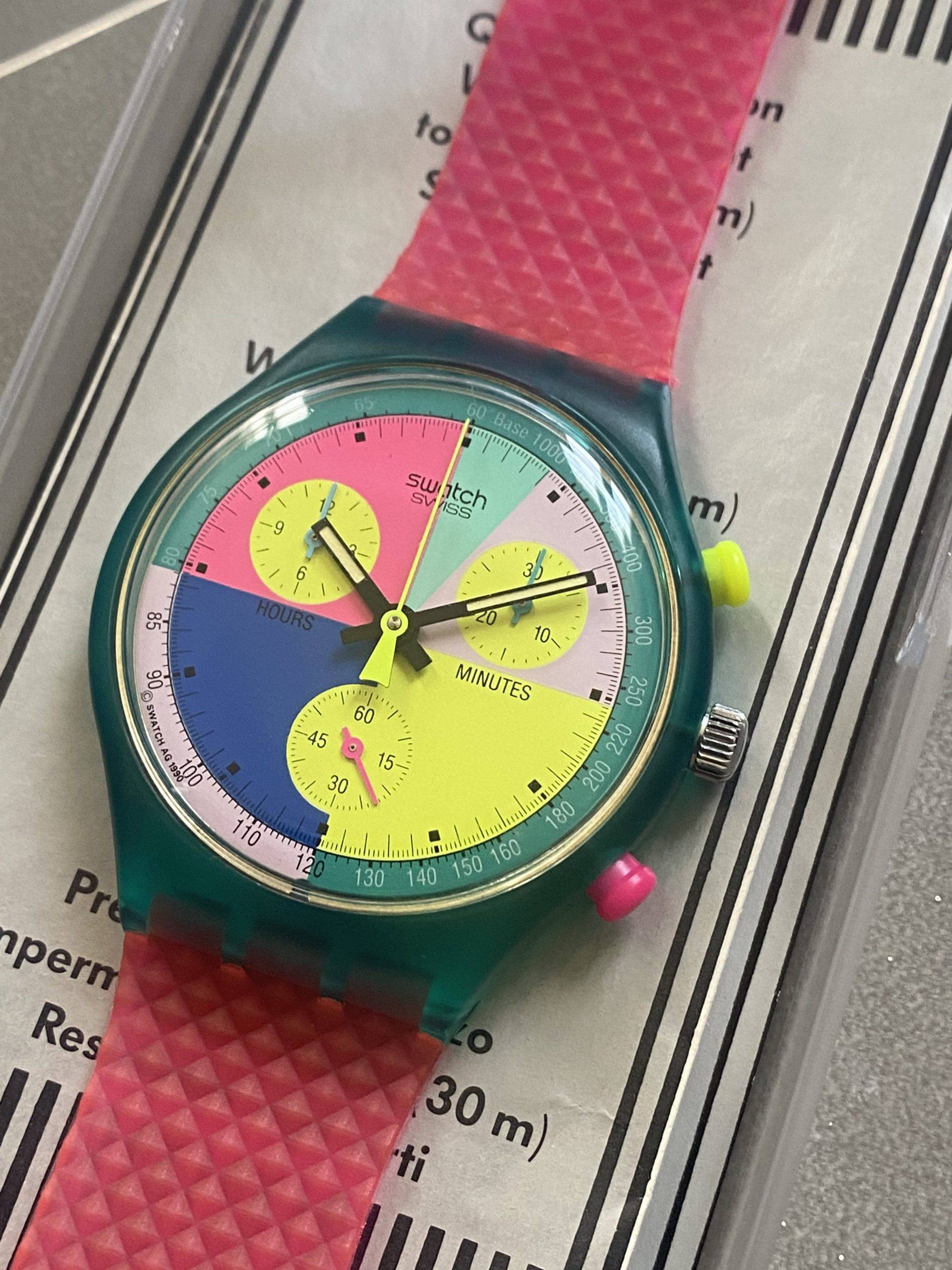 SWATCH VINTAGE FLASH ARROW BOX & PAPERS-2