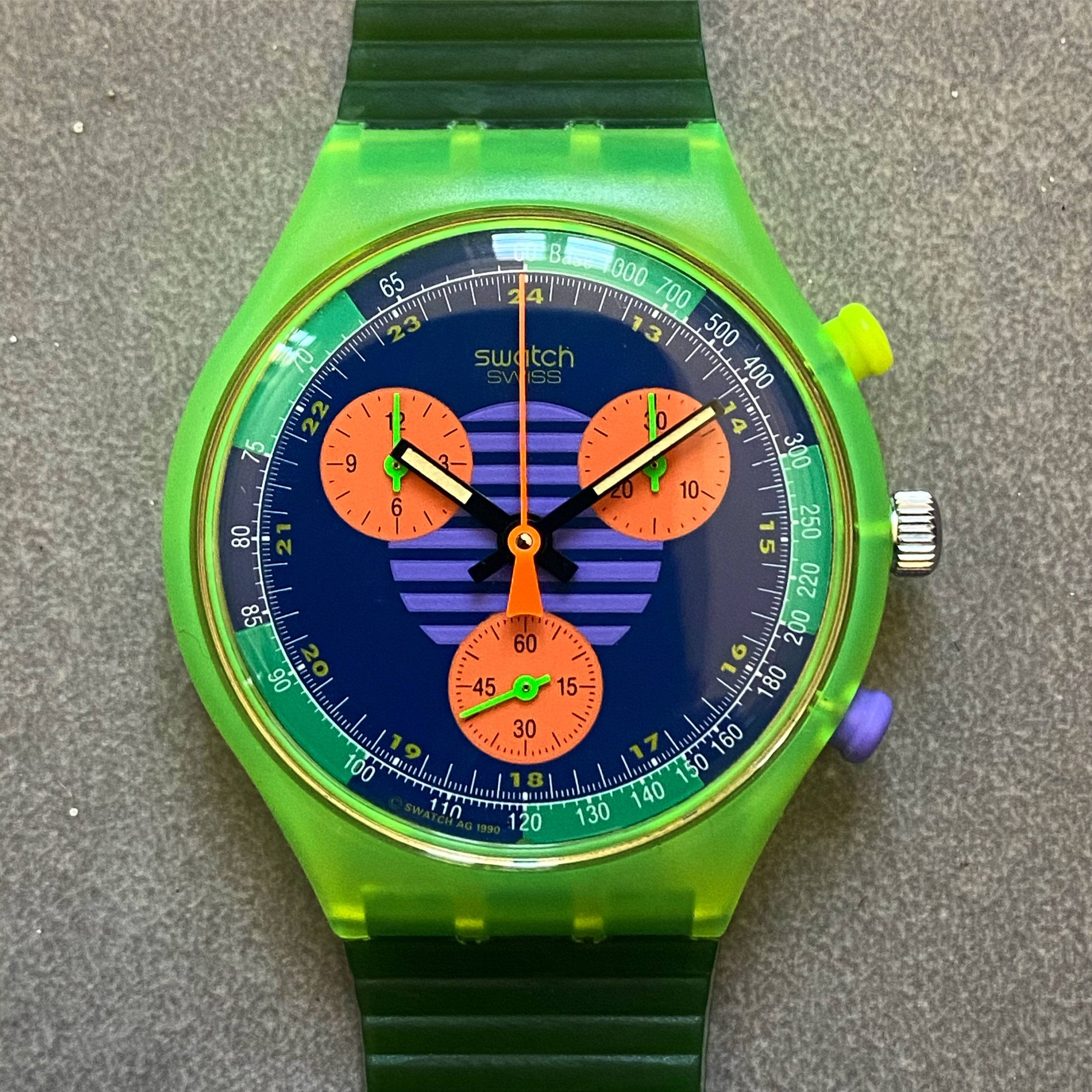 SWATCH VINTAGE NEO WAVE FLAG 1990's NOS-1