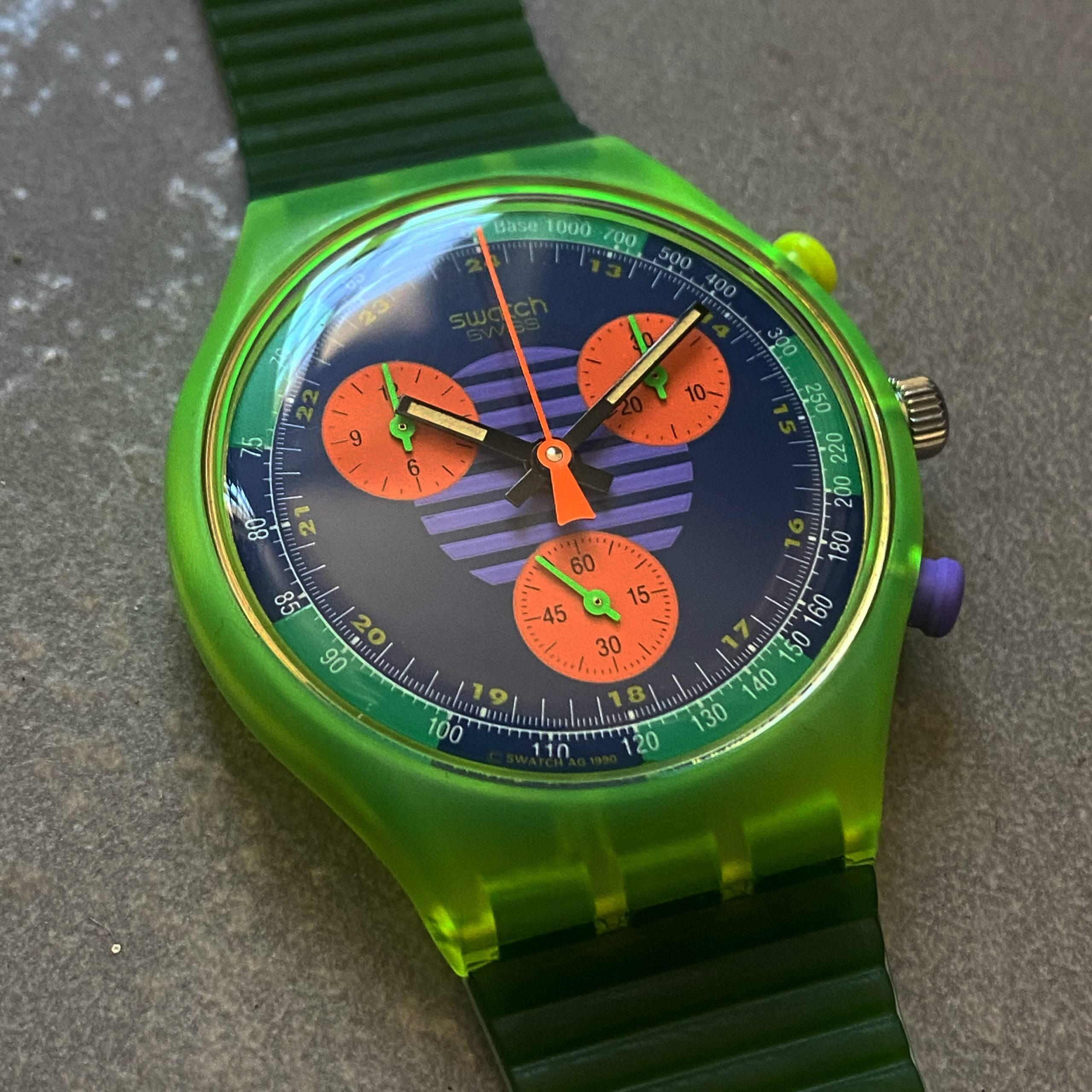 SWATCH VINTAGE NEO WAVE FLAG 1990's NOS-2