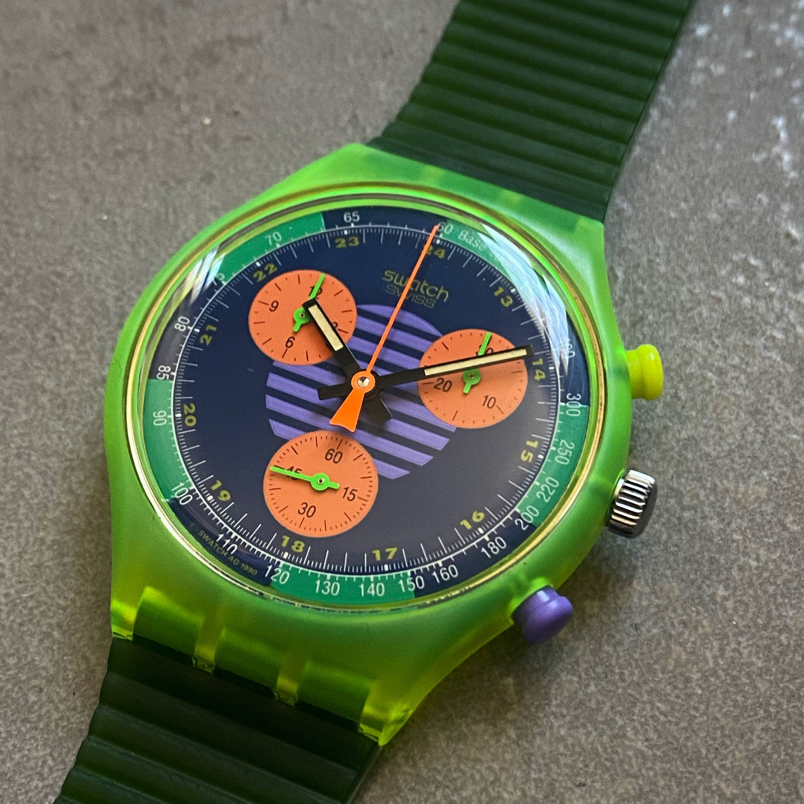 SWATCH VINTAGE NEO WAVE FLAG 1990's NOS-3